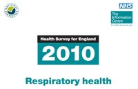 2010 Health Survey for England reports on Respiratory Health